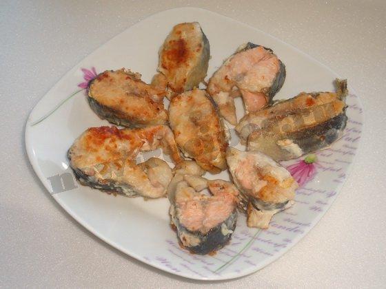 как приготовить красную рыбу жареную