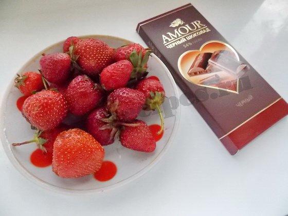 ингредиенты для клубники в шоколаде