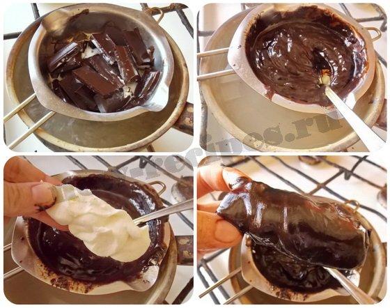 глазируем сырки шоколадом