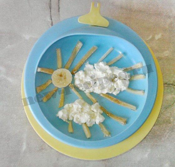 оригинальный творожный десерт для детей