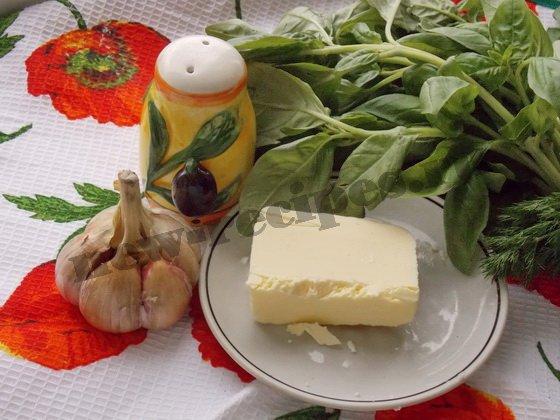 ингредиенты для базиликового масла