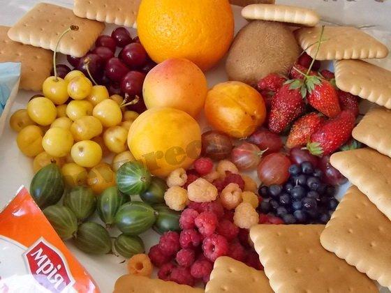 десерт сметана желатин фрукты