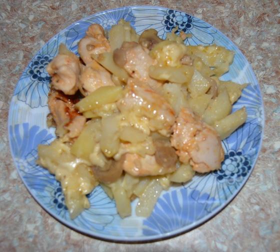 Картошка с ананасами в духовке рецепт с фото пошагово ...