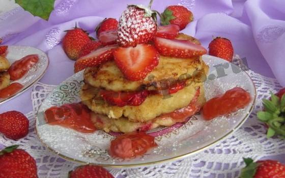 сырники с ягодами