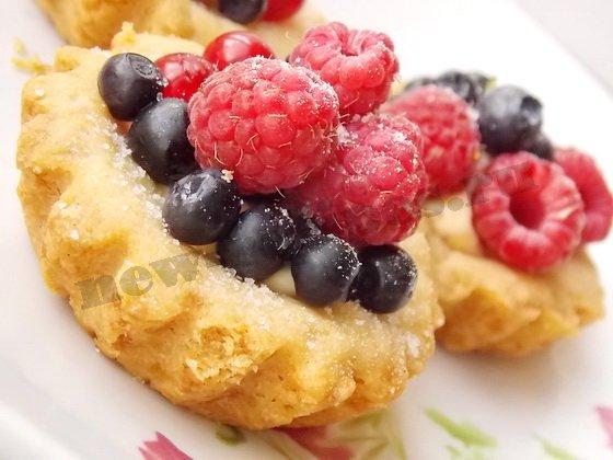 ягодные тартинки