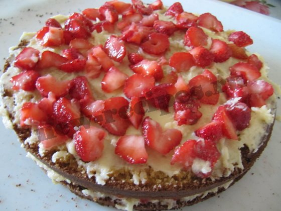рецепт торта клубника со сливками