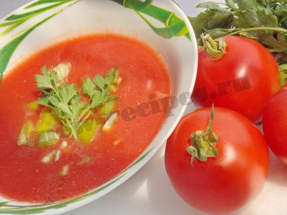 томатный суп гаспачо рецепт с фото