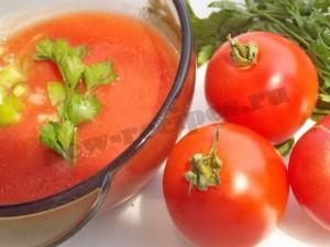 Испанский томатный холодный суп гаспачо