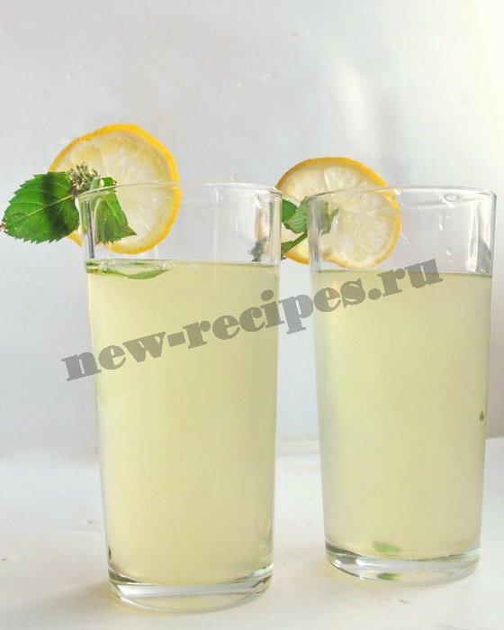 лимонный лимонад с мятой рецепт
