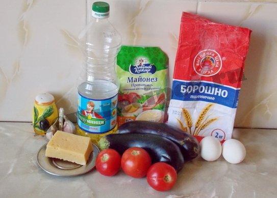 ингредиенты для пирожных из баклажанов