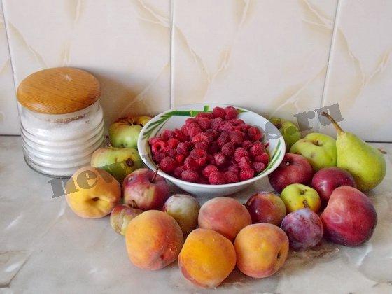 ингредиенты для вкусного компота