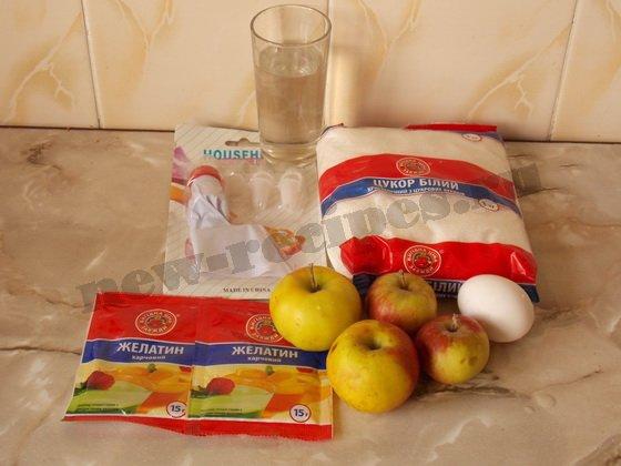 ингредиенты для домашнего яблочного зефира