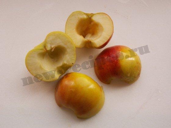 очистим половинки яблок