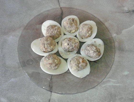 приготовление фаршированных яиц
