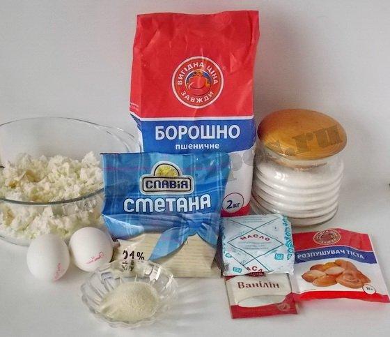 ингредиенты для сочников с творогом