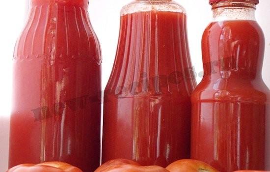 домашний томатный сок готов