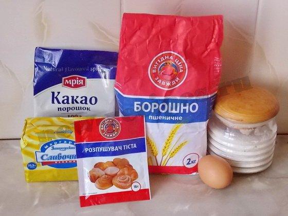 ингредиенты для домашнего песочного печенья