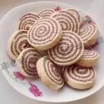 Песочное печенье рулетики