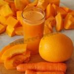 Морковно-тыквенный сок с апельсином