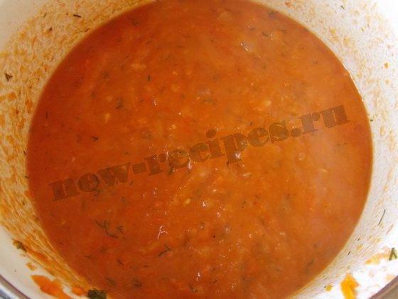 прокипятим тыквенный суп-пюре
