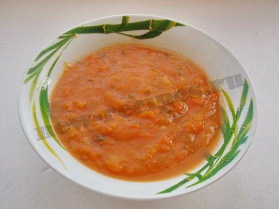 тыквенный суп-пюре готов