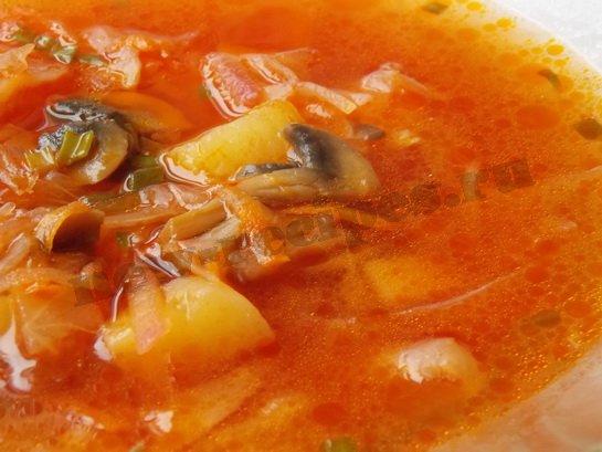Постный борщ с грибами, пошаговый рецепт с фото