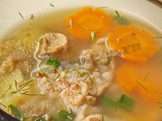 гречневый суп с мясом фото