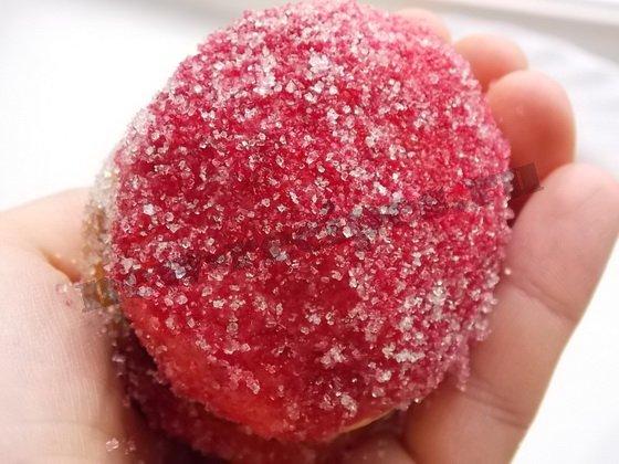 пирожное персик - малиновый бочок