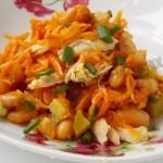 Рецепт салата Фасоль с курицей