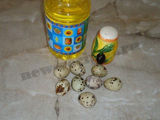 ингредиенты для яичницы из перепелиных яиц