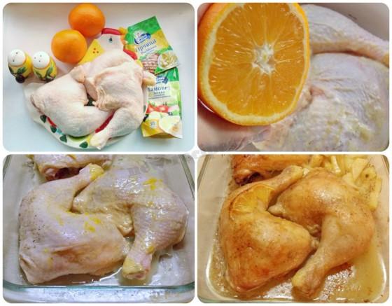 как приготовить курицу в апельсиновом маринаде