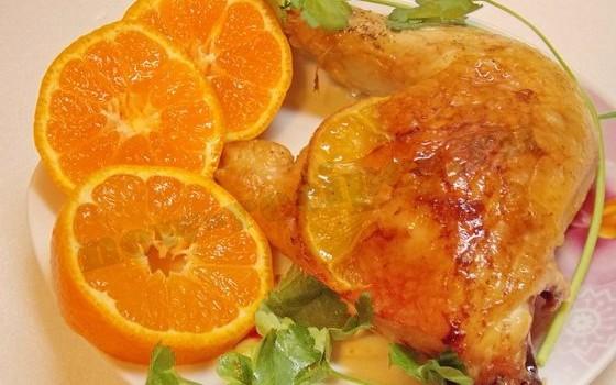 курица с апельсиновым соком