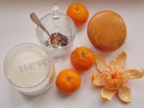 ингредиенты для чая с мандаринами
