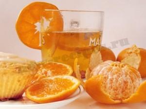 чай с мандаринами