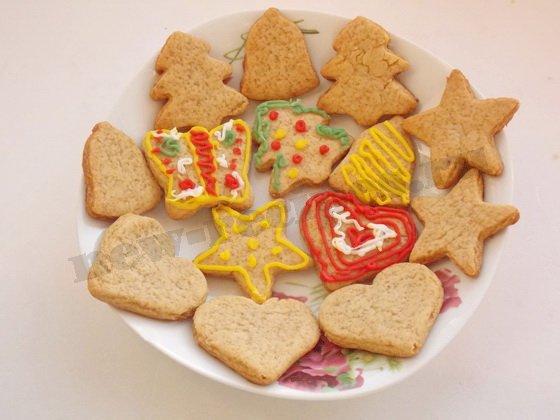 расписываем имбирное печенье