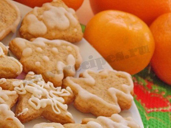 имбирное печенье с сахарной глазурью