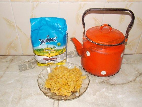 ингредиенты для вареников с капустой