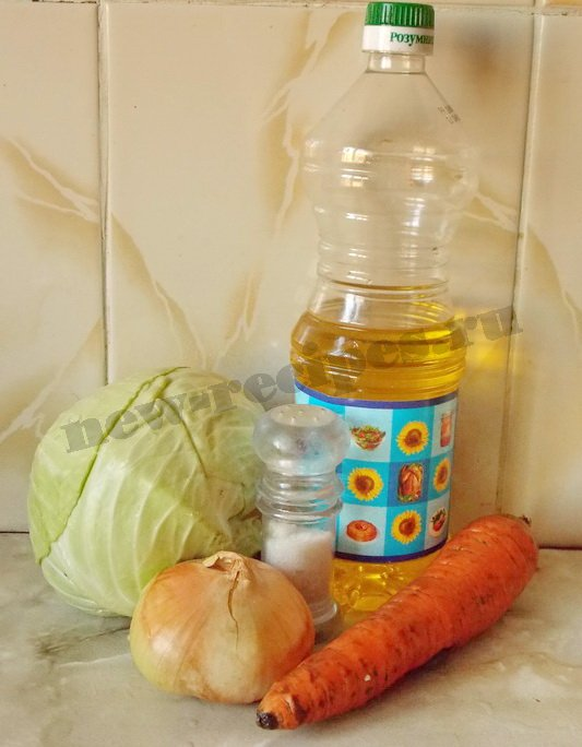 ингредиенты для капустной начинки