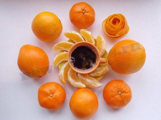 кофе с апельсинами готов