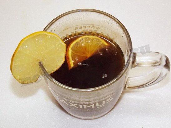 кофе с лимоном готов