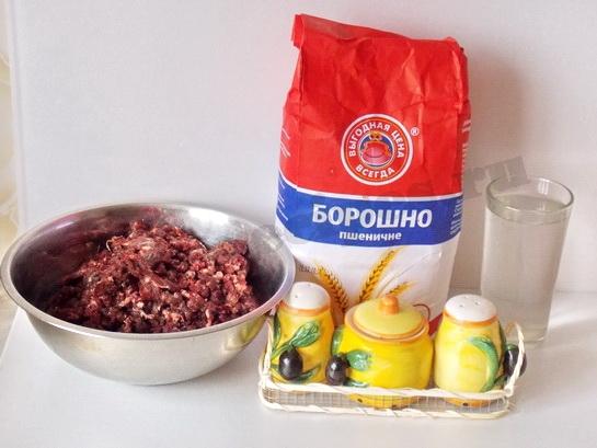 ингредиенты для домашних пельменей