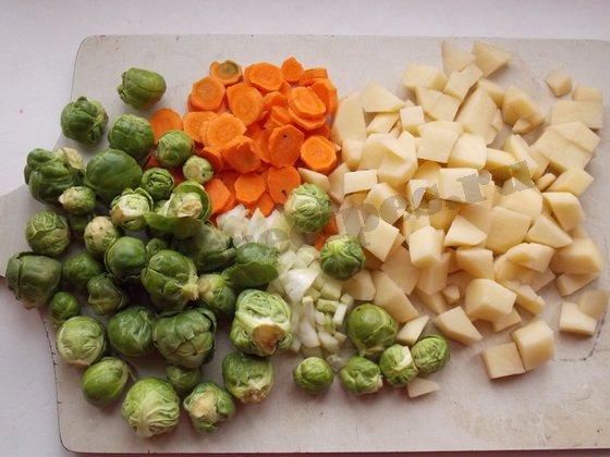 как сварить овощной суп с брюссельской капустой