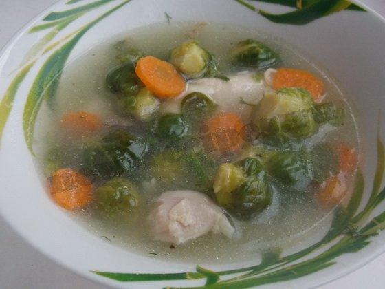 суп с брюссельской капустой