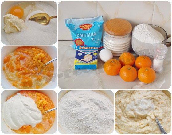 как приготовить мандариновые кексики