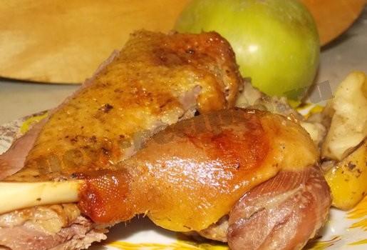 утка с яблоками фото рецепт