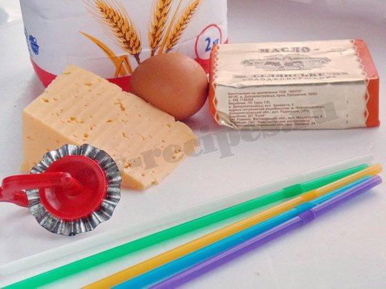 ингредиенты для печенья с сыром