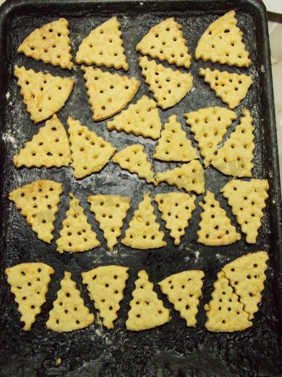 выпекаем сырные крекеры