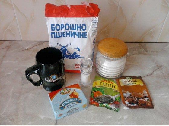ингредиенты для печенья на пиве