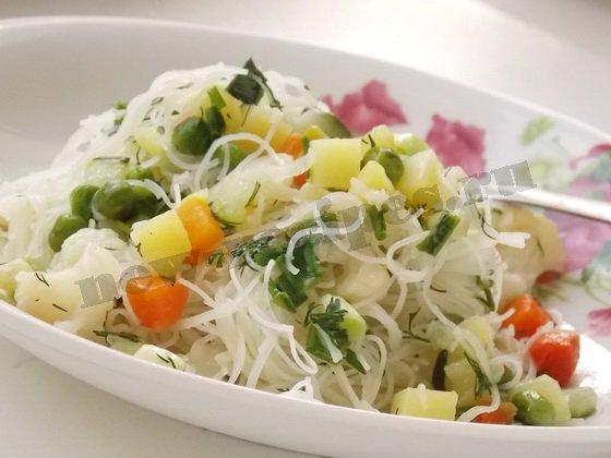 рисовая вермишель рецепт с овощами