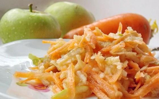 салат из морковки и яблока